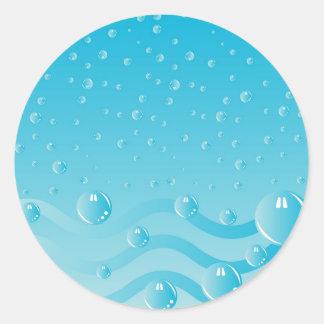 Burbujas IV Pegatinas Redondas