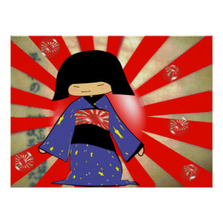 Burbujas japonesas posters