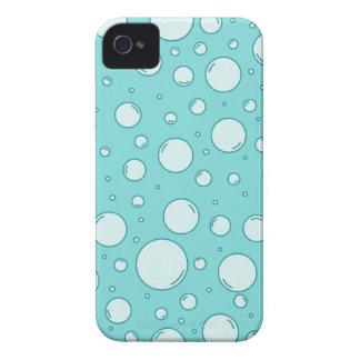 Burbujas ligeras tranquilas de la turquesa carcasa para iPhone 4