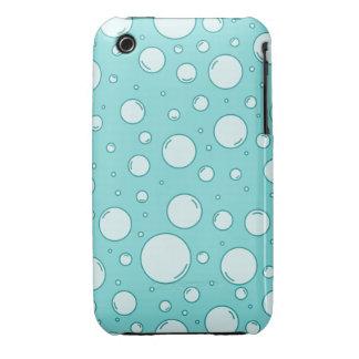 Burbujas ligeras tranquilas de la turquesa iPhone 3 cárcasa