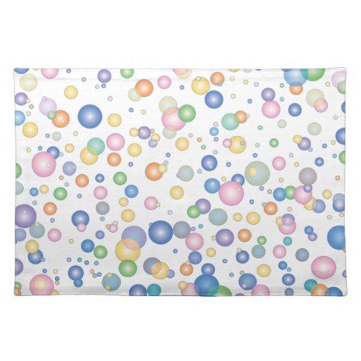 Burbujas Mantel Individual