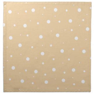 Burbujas marrones claras servilleta imprimida