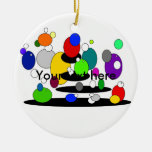Burbujas multicoloras flotantes enrrolladas ornamento para arbol de navidad