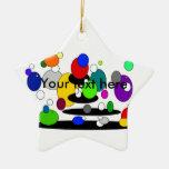 Burbujas multicoloras flotantes enrrolladas adornos de navidad
