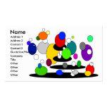 Burbujas multicoloras flotantes enrrolladas tarjeta de visita