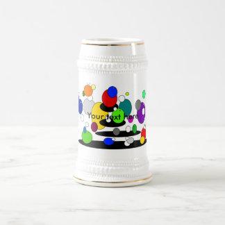 Burbujas multicoloras flotantes enrrolladas tazas de café