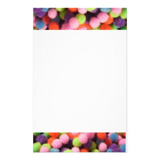 Burbujas multicoloras papelería de diseño