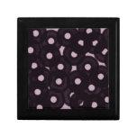 burbujas negras afortunadas del círculo cajas de regalo