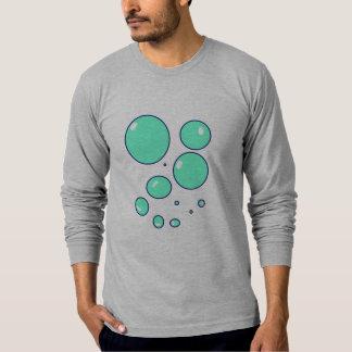Burbujas para hombre frente y camiseta de la parte remera