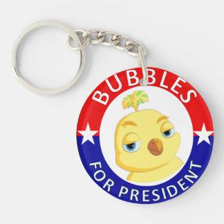 Burbujas para presidente Keychain Double-sided Llavero Redondo Acrílico A Doble Cara