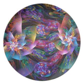 Burbujas plásticas lisas platos para fiestas