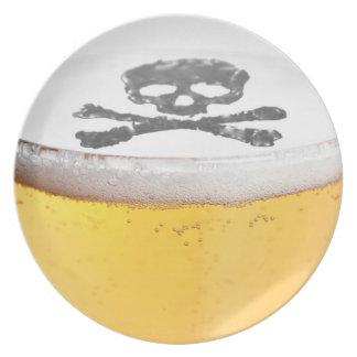 Burbujas principales de la cerveza platos