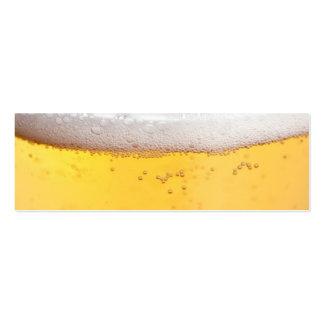 Burbujas principales de la cerveza tarjeta de negocio
