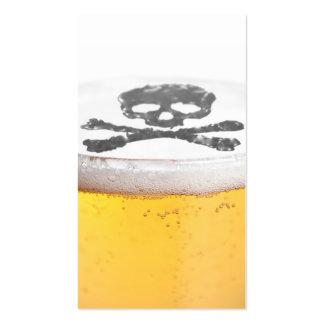 Burbujas principales de la cerveza tarjetas de visita