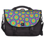 Burbujas psicodélicas del arco iris del bolso del  bolsa de ordenador