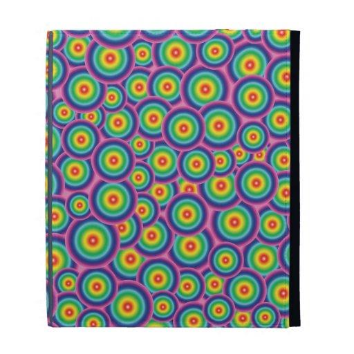 burbujas psicodélicas del arco iris del caso del i