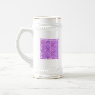 Burbujas púrpuras de la perla - basadas en bolas jarra de cerveza