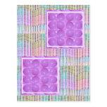 Burbujas púrpuras de la perla - basadas en bolas postal