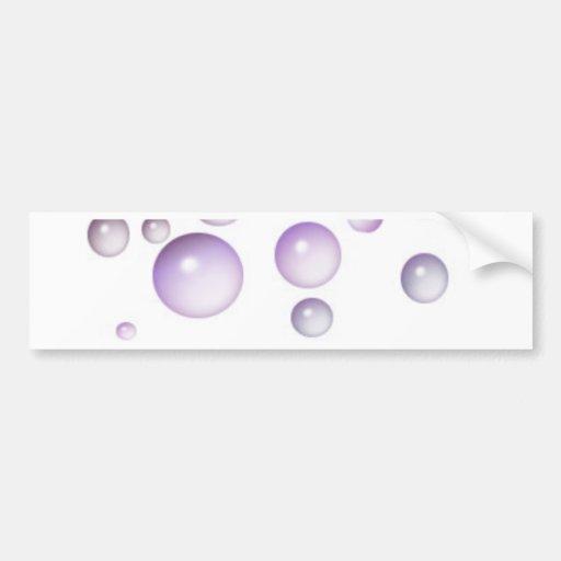 Burbujas púrpuras pegatina de parachoque