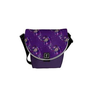 Burbujas púrpuras venecianas de las cintas de la bolsas de mensajería