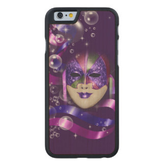 Burbujas púrpuras venecianas de las cintas de la funda de iPhone 6 carved® de arce
