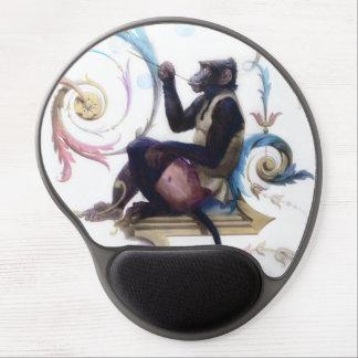 Burbujas que soplan del mono alfombrilla de raton con gel
