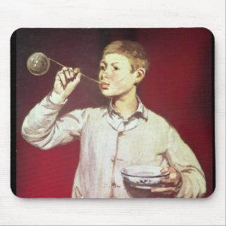 Burbujas que soplan del muchacho 1867-69 tapetes de raton
