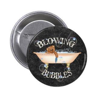 Burbujas que soplan pin redondo 5 cm