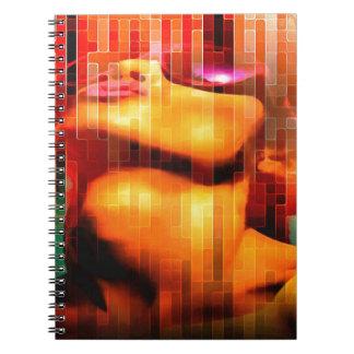Burbujas que soplan spiral notebooks