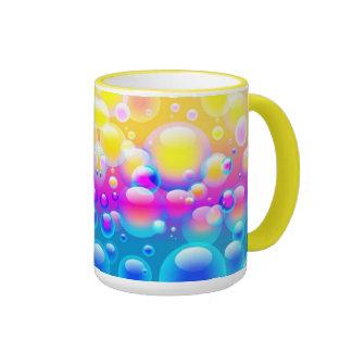 Burbujas que soplan V Taza De Dos Colores