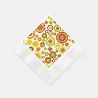 Burbujas retras coloridas servilletas de papel