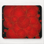 Burbujas rojas alfombrilla de ratón