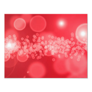 """burbujas rojas invitación 4.25"""" x 5.5"""""""