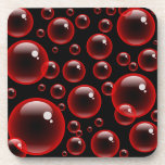 Burbujas rojas posavasos de bebida