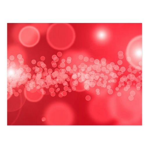 burbujas rojas postales