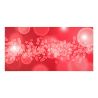 burbujas rojas tarjeta fotográfica