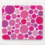 burbujas rosadas alfombrillas de ratones
