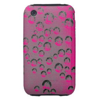 Burbujas rosadas carcasa though para iPhone 3