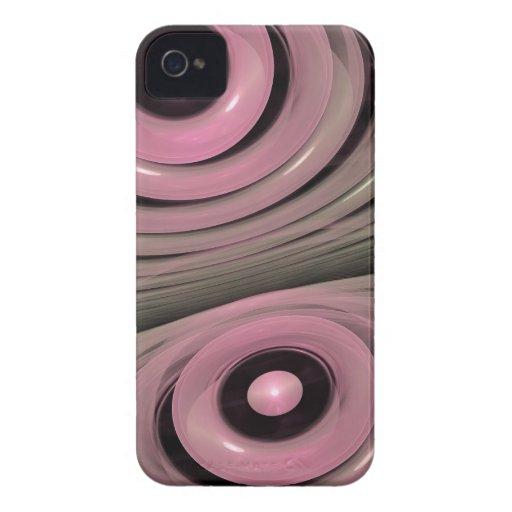 Burbujas rosadas cariñosas, extracto artístico Case-Mate iPhone 4 funda