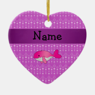 Burbujas rosadas conocidas personalizadas de la adorno de cerámica en forma de corazón