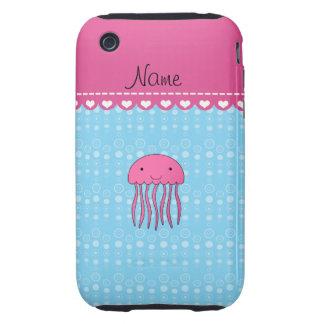 Burbujas rosadas conocidas personalizadas del azul tough iPhone 3 protectores