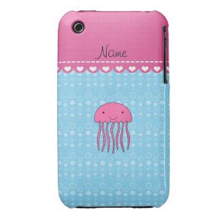 Burbujas rosadas conocidas personalizadas del azul iPhone 3 protectores