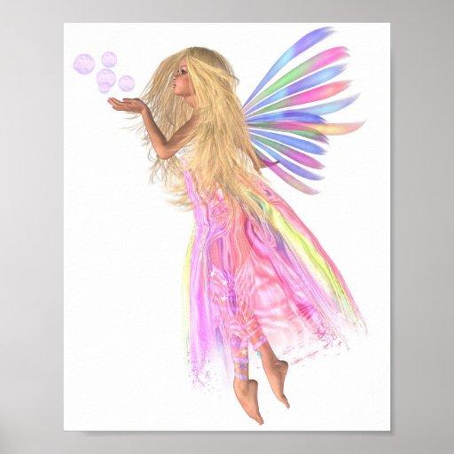 Burbujas rosadas de hadas impresiones