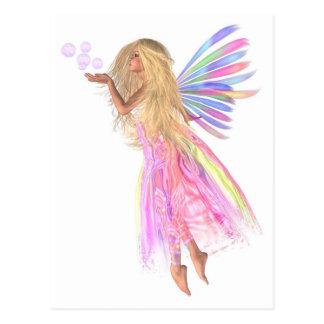 Burbujas rosadas de hadas tarjetas postales
