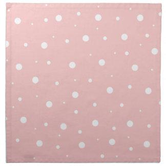 Burbujas rosadas rojizas servilleta imprimida