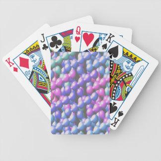 Burbujas rosadas y azules baraja de cartas