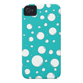 Burbujas tranquilas de la turquesa carcasa para iPhone 4