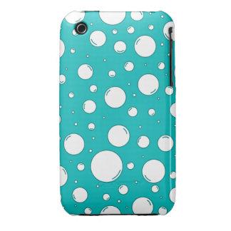 Burbujas tranquilas de la turquesa iPhone 3 protector