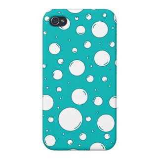 Burbujas tranquilas de la turquesa iPhone 4/4S carcasa
