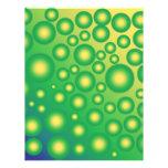 Burbujas tropicales frescas tarjetas publicitarias